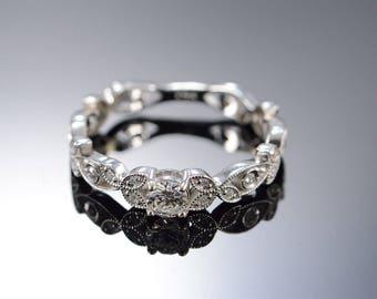 14k Vintage 0.25 Ct G / VS1 Round 0.40 Ctw Diamond Milgrain Engagement Ring Gold