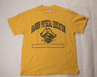Vintage Champion T-shirt Harbor Physical Education made in USA