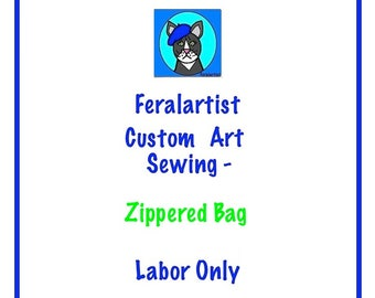 Custom Sewing, Send Me Your FQ, I will sew your Artsy Zippered Pouch, Sewing Service, Artistic Zippered Bag,Pouch, Pencil Bag