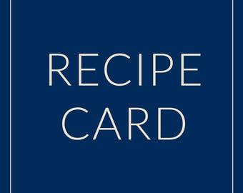 Custom Recipe Card | Printable Bridal Shower Game | Printable Recipe Card | Bridal Recipe Cards