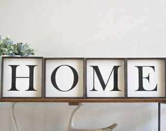 Letter signs wall decor