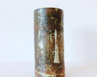 Handmade stoneware tall vase. Melbourne