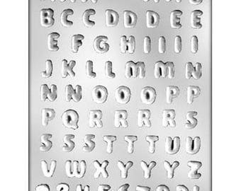 "1/2"" Letters and Numbers Chocolate Mold - 90-14241"