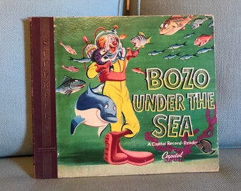 "1948 Bozo Under the Sea 10"" 78 RPM Capitol Record Reader - 2 Albums with Booklet"