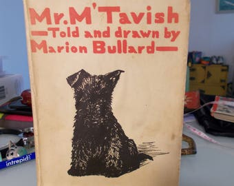 Mr M Tavish vintage 1933 book told and drawn by marion bullard an author artist activist from woodstock ny first editon signed