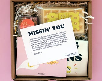 I Miss You Gift. Miss You Gift. Going Away Gift. Long Distance Care Package. Moving Gift Basket. Going Away Gift for Co-Worker.