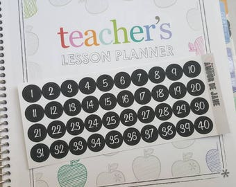 Teacher Lesson Planner Weekly Numbers
