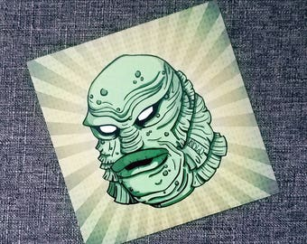 The Creature From The Black Lagoon Gillman Print By VOIDEaD