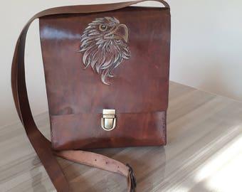 Mens leather satchel   Etsy