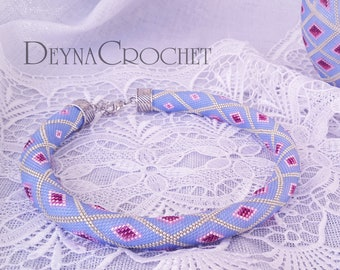Bead Crochet Necklace - Geometric necklace - Made To Order