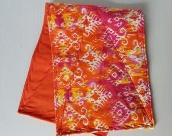 Orange Flannel Burp Cloth, Baby Burp Cloth, Flannel Burp Cloth, Double Thick Burp Cloth-Ready to Ship