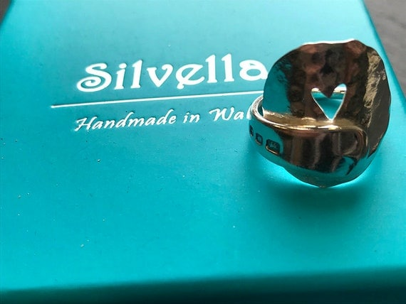 Sterling Silver Antique Love Spoon Ring - Hallmarked