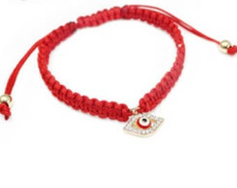 Red kabbalah/ evil eye / lucky charm  bracelet