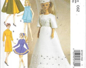 Fashion Doll 11 1/2 Doll Clothes,  New Uncut McCalls Pattern 7267