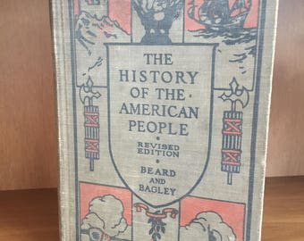 Antique US History Book// 1926