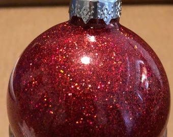 Custom Glitter Ornaments