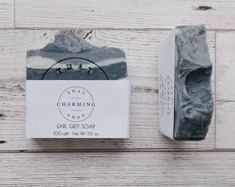 Earl Grey Soap - Cold Process Soap - Vegan Soap - Cruelty Free Soap - All Natural Soap - Tea Soap - Tea Gift