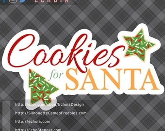 Cookies for Santa - SVG, PNG and DXF files
