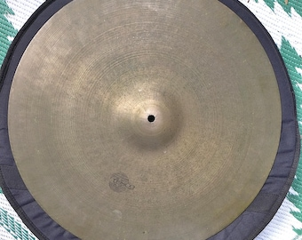 "Vintage Cymbal, 20"" Tosco Ride Cymbal, Vintage Drums"