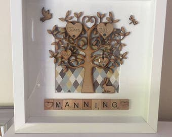 Scrabble frame  Family Tree Gift Idea