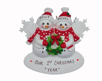 Our 1st Christmas Together Personalized Christmas Ornament - Lesbian/Gay Couple Celebrating A Christmas - Couple Personalized Ornament