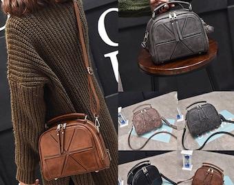 Women PU Leather Handbag Shoulder Crossbody Bag Tote Messenger Satchel Purse