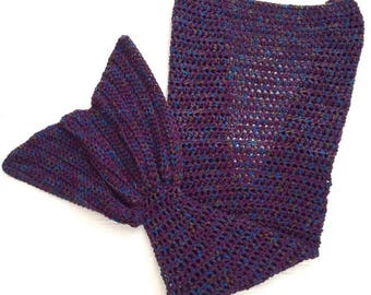 Mermaid Tail Blanket Adult Size. Custom Mermaid Tail Blanket. Handmade Mermaid Blanket Adult. Made to Order