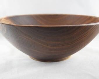 """Black Walnut Wood Salad Bowl, 10-3/4""""  (B51)"""