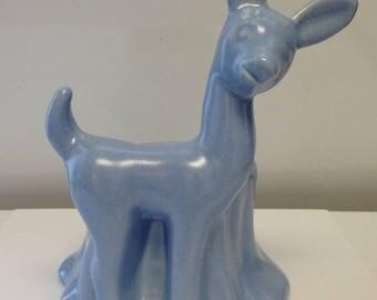 Vintage Blue Deer Planter Haeger Pottery