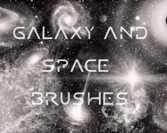 12 Galaxy and Space brushes - procreate