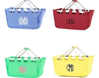 FREE SHIPPING, Monogrammed Market Tote, Market Basket Tote, Monogrammed Market Tote, Personalized Market Tote, Bridesmaids Gift, Large