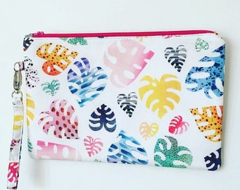 MONSTERA / Fabric Clutch
