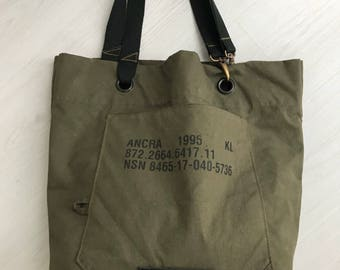 Repurposed dutch military bag, tote bag / nr.2