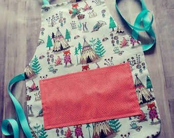 Teepee Toddler Apron