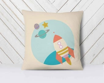 Space Baby Nursery, Space Nursery Decor, Space Theme Baby Nursery, Planet Pillow, Outer Space Nursery Bedding|| Mix & Macht || See it