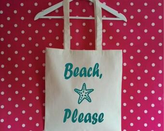 Beach Please Tote Bag. Vacay Bag. Market Tote. Cotton Bag. Beach Bag. Shopping Bag. Bag For Life.