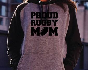 Proud Rugby Mom Hoodie. Rugby Hoodie. Rugby Mum Hoodie. Rugby Mom Fashion. Rugby Mom Gift. Rugby Fan. Rugby Gift.