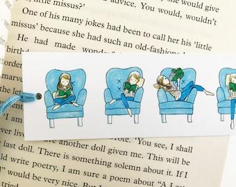 I'm Booked Bookmark - literary - bookmark - blue