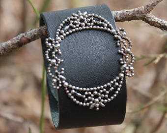 Leather cuff with Shoe Clip