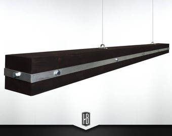 Heavy metal pendant lamp made of 150cm solid wood
