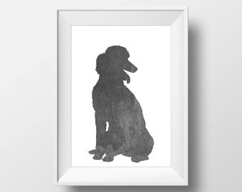 Chalkboard Poodle Print, Poodle Print, Poodle art, Dog decor, Dog lover gift, Poodle Wall Art
