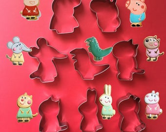Dog Cat Rabbit And Sheep Cookie Cutter Set