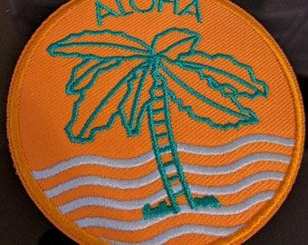 Aloha Palm Tree Embroidered Patch
