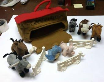 Vintage Retro Dan Dee 11pc Mixed Lot Livery Stables Plush Farm Animals