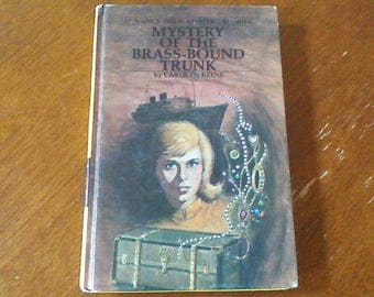 Nancy Drew Mystery Of The Brass Bound Trunk, Nancy Drew #17, Vintage Nancy Drew Book, Nancy Drew Hardcover Chapter Book, 1976