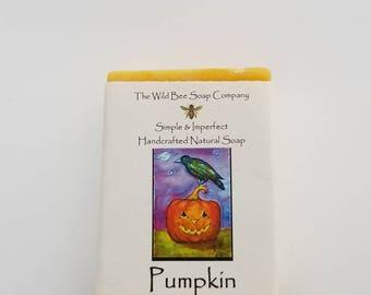 Pumpkin Soap, Soap, Natural Soap, Bar Soap, Skincare, Bath Soap, Handcrafted Soap