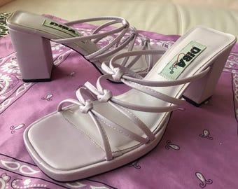 lavender heeled sandals size 8.5 (8 & 1/2)