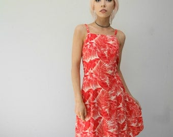 Vintage 90s Floral Patterned Slip Dress.