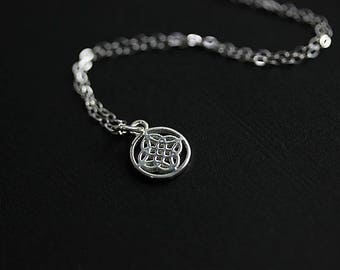 925 Sterling Infinity Necklace, Sterling Silver Infinity Necklace, Silver Infinity Necklace, Celtic Jewelry,Entwined Infinity necklace