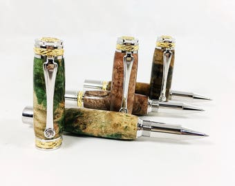 Handcrafted Cigar Pen, Ball Point Pen, Office Gift, Office Supplies, Office Accessory, Anniversary Gift, Gift for Husband, Gift for Him